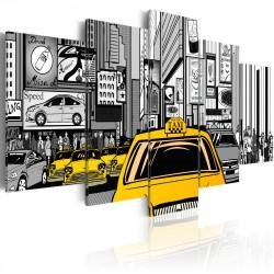 Obraz  Taxi v komiksu