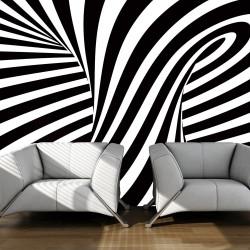 Fototapeta  op art černobílý