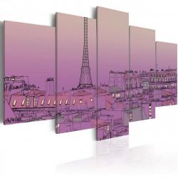 Obraz  Lavender sunrise over Paris