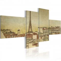 Obraz  Parisian chic in retro style
