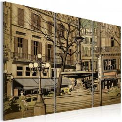 Obraz  Parisian fountain in sepia