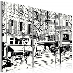 Obraz  Sketch pařížského náměstí