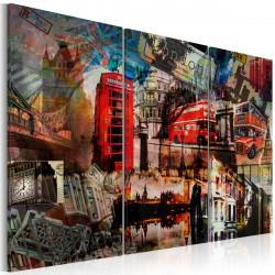 Obraz  London collage  triptych