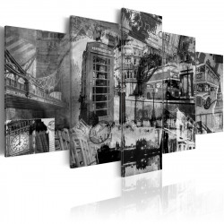Obraz  The essence of London  5 pieces