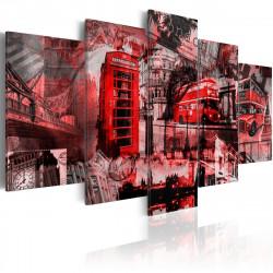 Obraz  London collage  5 pieces