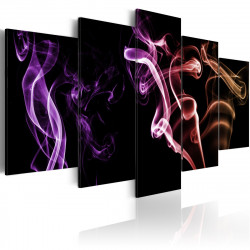 Obraz  Colored smoke  5 pieces