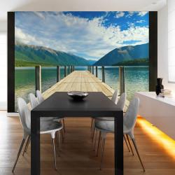 Fototapeta  Mountain lake bridge