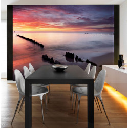Fototapeta - Sunrise over the Baltic Sea