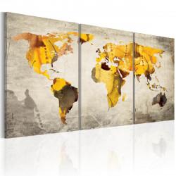 Obraz  Žluté kontinenty